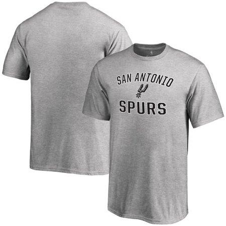 Men's Gray San Antonio Spurs Victory Arch T-Shirt (Halloween Festivals San Antonio)