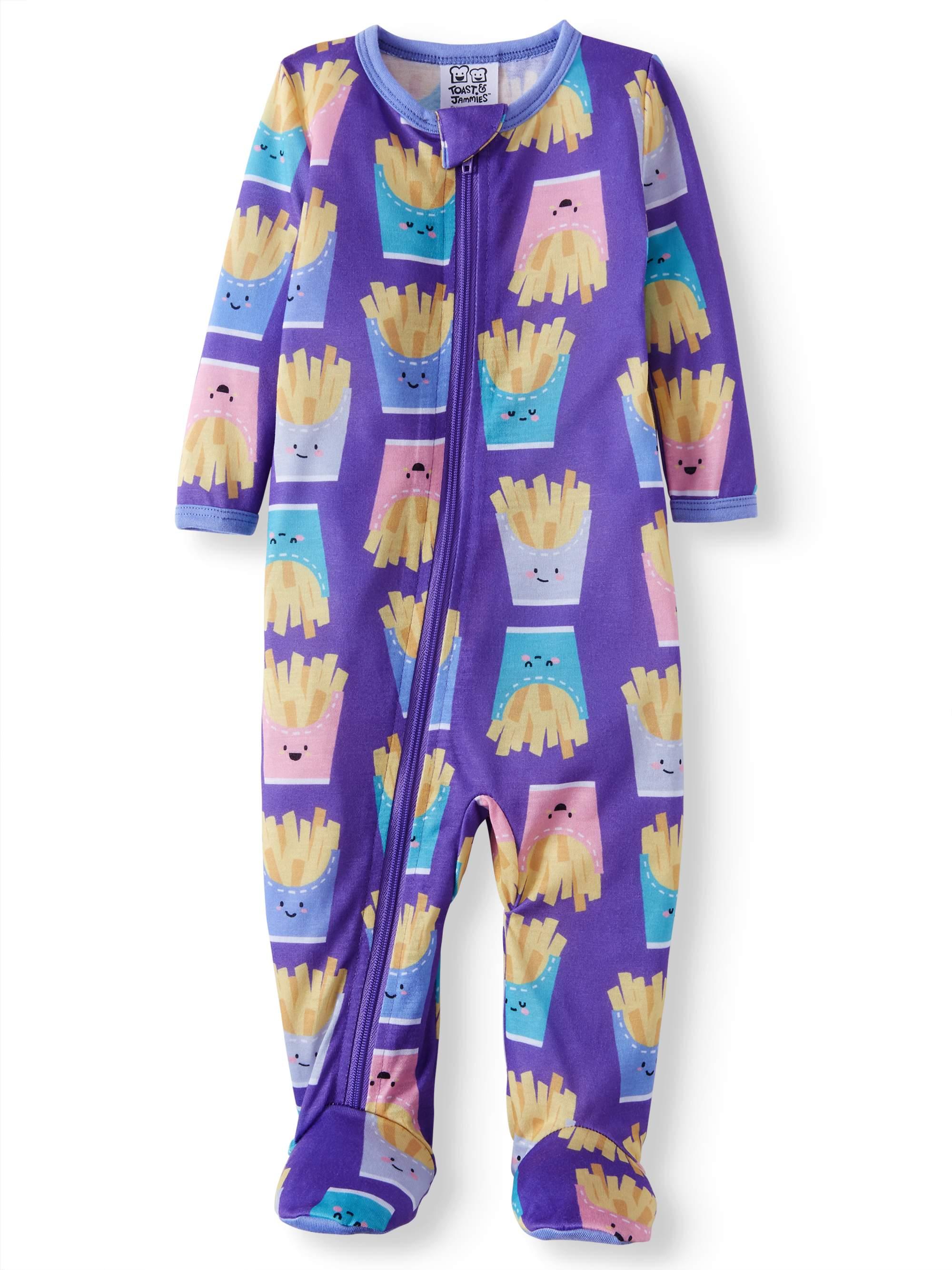 Snug Fit Footed Sleeper Pajamas (Baby Girls)