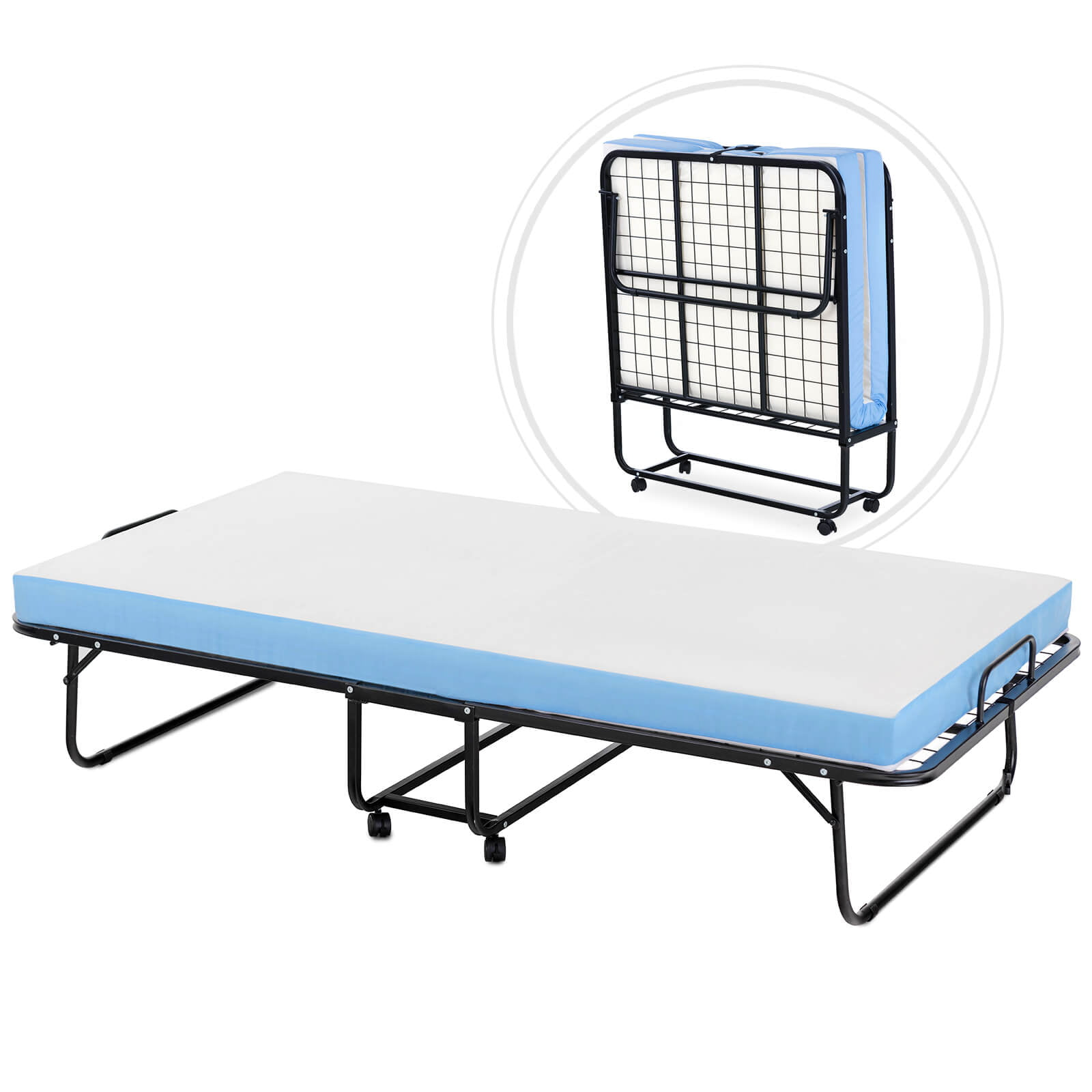 Mecor Foldable Folding Bed, Rollaway Extra Guest Bed with ...
