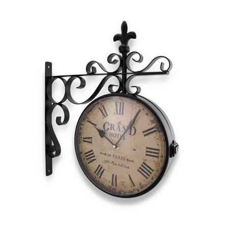 Grand Hotel Paris Double Sided Wall Mounted Clock Bicycle Double Bubble Clock