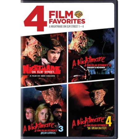 4 Film Favorites: A Nightmare On Elm Street 1-4 (DVD) (A Nightmare On Elm Street Costume)