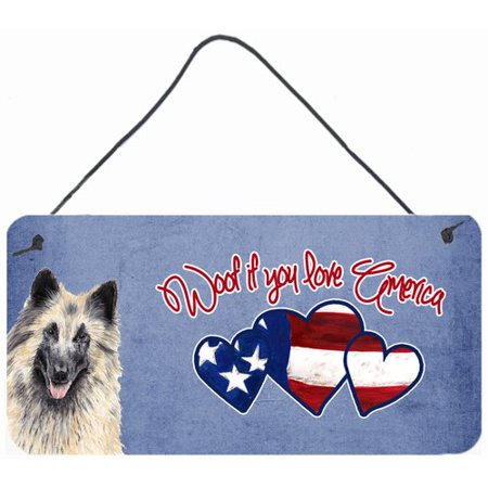 Caroline's Treasures Woof if you love America Belgian Tervuren by Sylvia Corban Painting Print Plaque