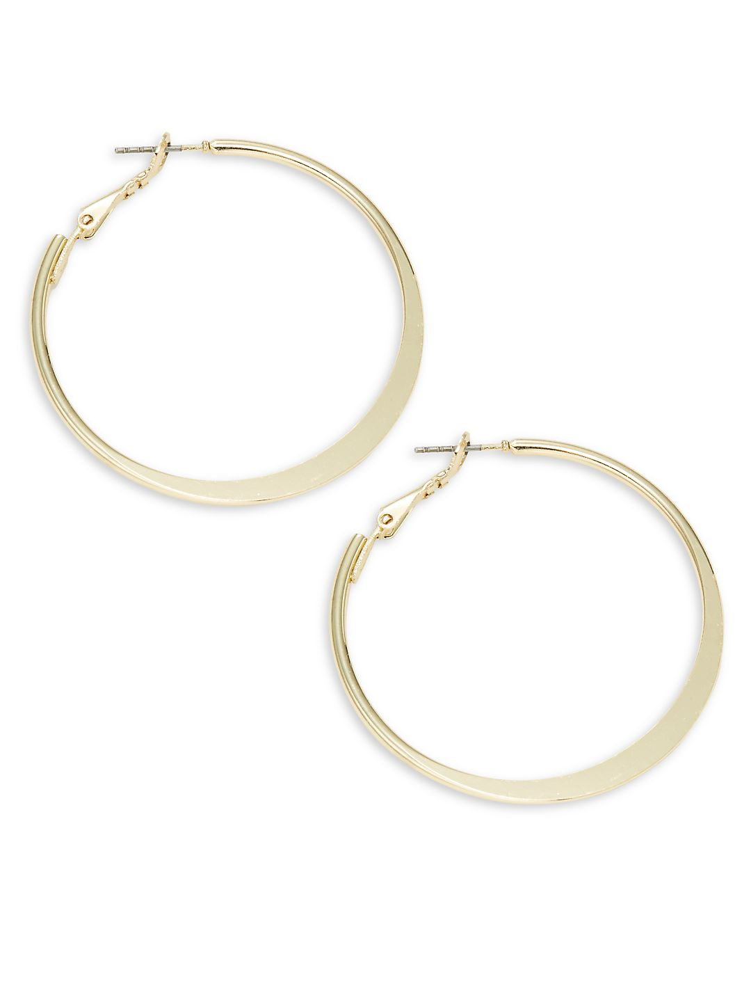 Knife-Edged Hoop Earrings