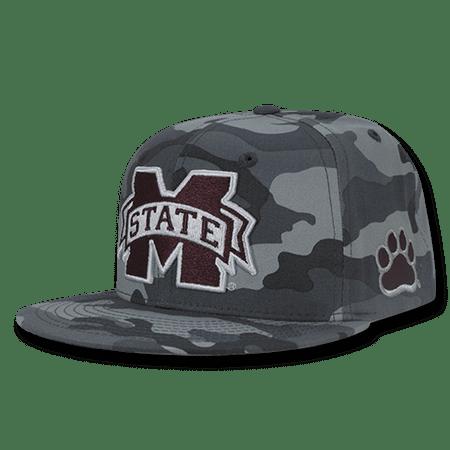 NCAA MSU Mississippi State U Bulldogs Camo Camouflage Baseball Caps Hats - Msu Bulldogs