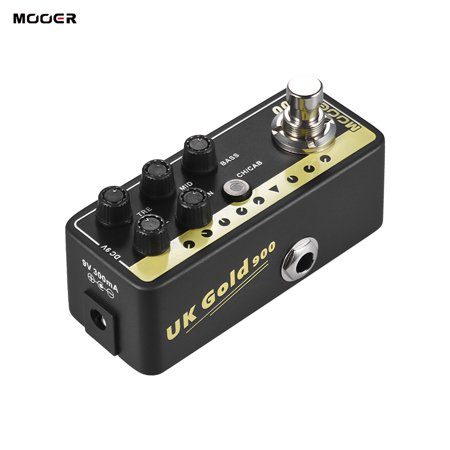 Digital Preamplifier (MOOER MICRO PREAMP Series 002 UK Gold British Crunch Digital Preamp Preamplifier Guitar Effect Pedal True Bypass )