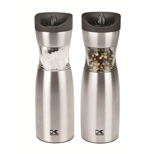 Kalorik Gravity Salt and Pepper Grinder Set, Ceramic