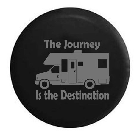 The Journey Is The Destination Motorhome Adventure Quote Spare Tire