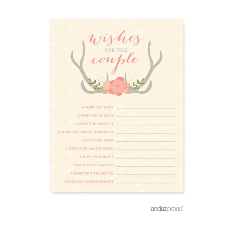 Wedding Card Wishes.Wishes For The Newlyweds Woodland Deer Wedding Cards Guest
