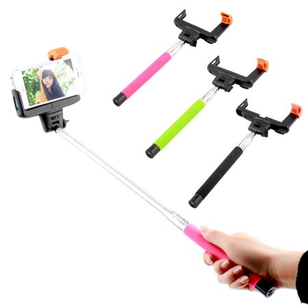 bluetooth shutter extendable handheld selfie stick monopod for smart phone redrose red. Black Bedroom Furniture Sets. Home Design Ideas