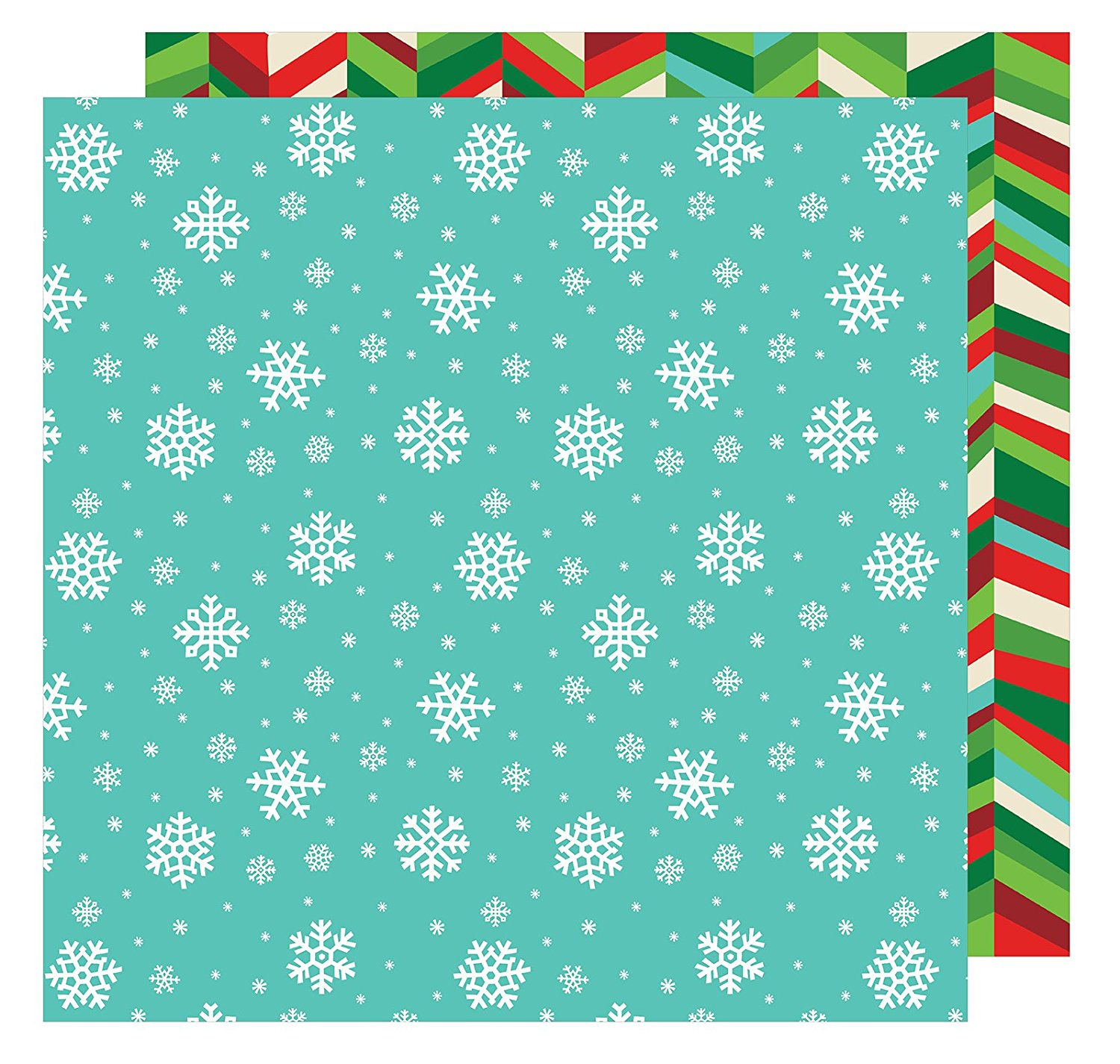 American Crafts All Wrapped Up Collection Christmas 12 X 12 Double Sided Paper Snowflakes