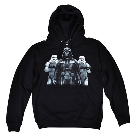 star wars the force awakens darth vader stormtrooper men 39 s pullover hoodie xl. Black Bedroom Furniture Sets. Home Design Ideas