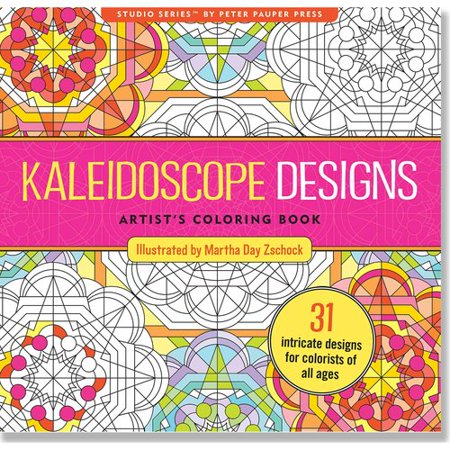 kaleidoscope designs artists adult coloring book - Walmart Coloring Books