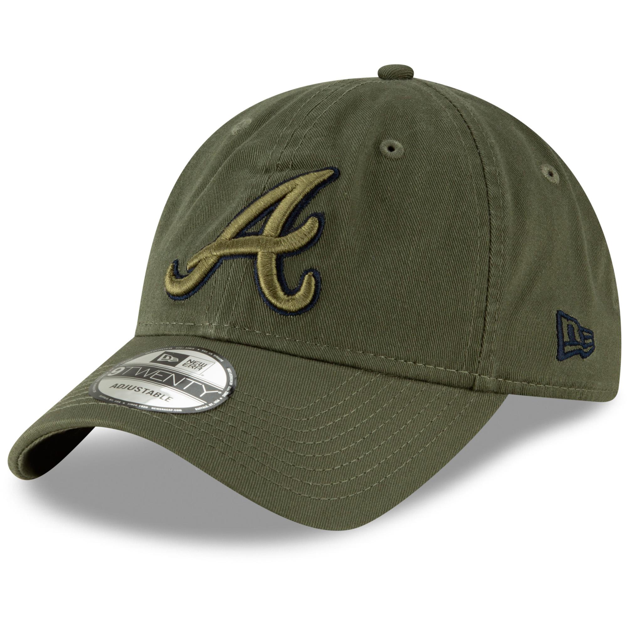 Atlanta Braves New Era Tonal Core Classic 9TWENTY Adjustable Hat - Olive - OSFA
