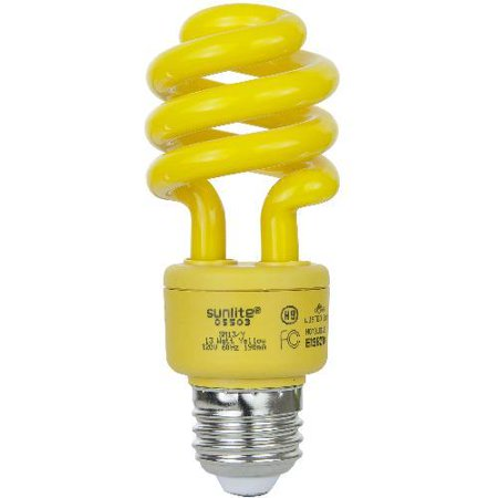 SUNLITE Compact Fluorescent 13W Super Mini Twist Yellow Colored CFL (Mini Twist Fluorescent Bulb)