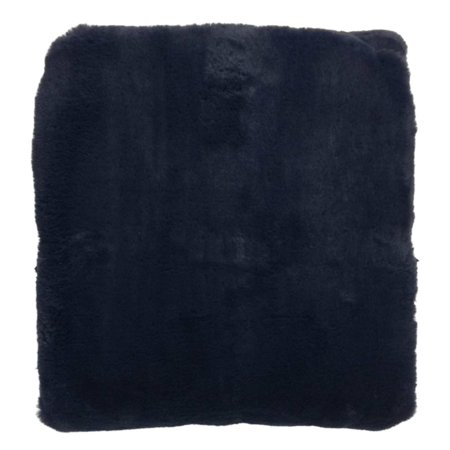 Luxe Premium Navy Blue Faux Fur Throw Blanket, Cozy Soft