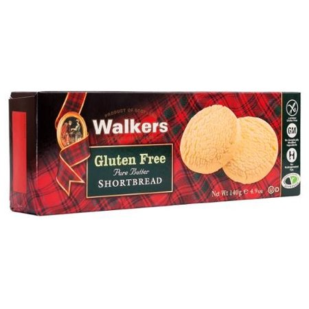 Walkers Gluten Free Shortbread 140g - Pack of 2 Gluten Free Cookie Dough