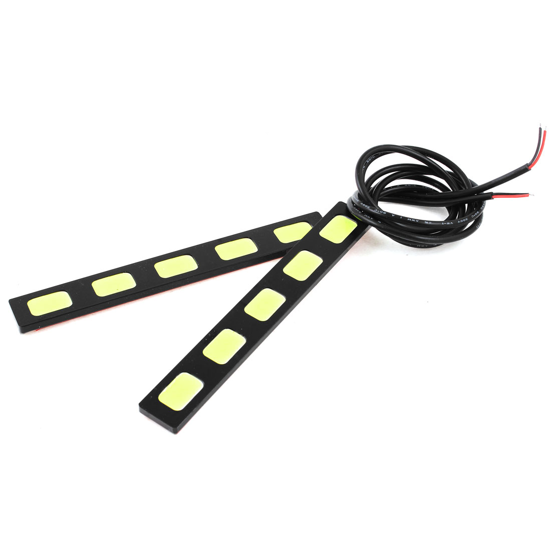 Unique Bargains 2 Pcs White 66 COB  Head Light Driving Lamp 152mm 6W for Auto