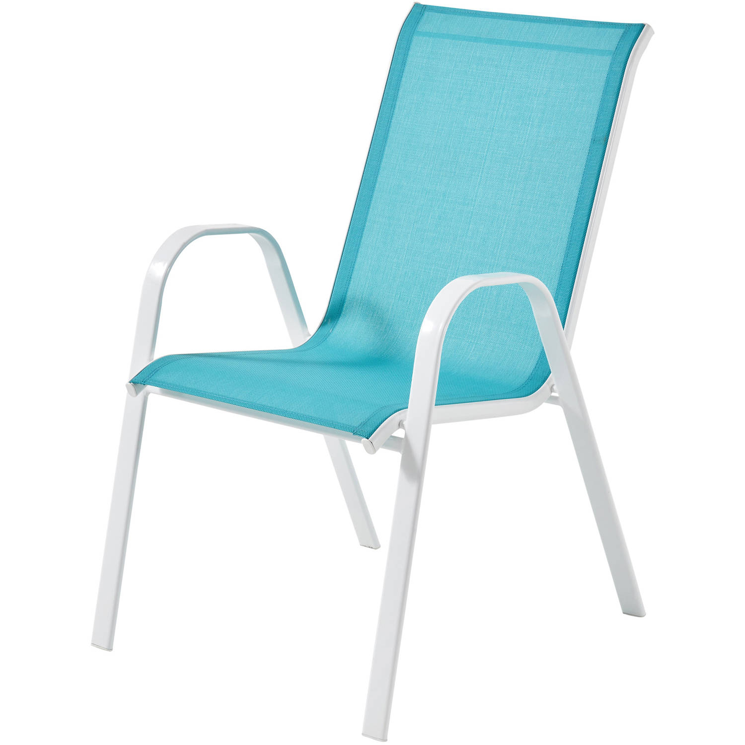 Mainstays Heritage Park Stacking Sling Chair, Turquoise