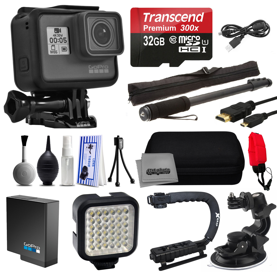 Buy GoPro HERO5 Black Edition Action Camera + 32GB Micro SD Card + Opteka xGrip Action Video Stabilizer + Night LED Light by GoPro