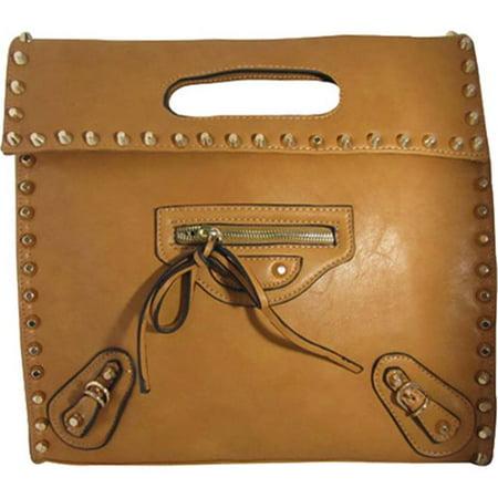 Aryana Ashlyn6beig Beige Handbag With Twist Lock Flap