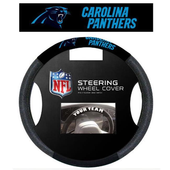 Fremont Die 98528 Carolina Panthers Poly-Suede Steering Wheel Cover