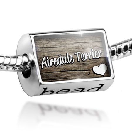 Airedale Dog Charm - Bead Airedale Terrier, Dog Breed England Charm Fits All European Bracelets