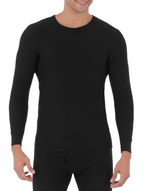 Fruit of The loom Men's Soft Waffle Waffle Baselayer Crew Neck Top Thermal underwear for Men