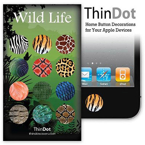 ThinDot Home Button Stickers for iPhone, iPad and iPod touch, Wild Life