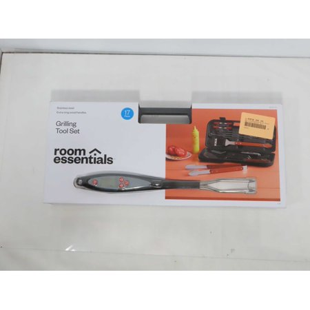 Image of Room Essentials Grilling Tool Set Stainless Steel (Stainless Steel)