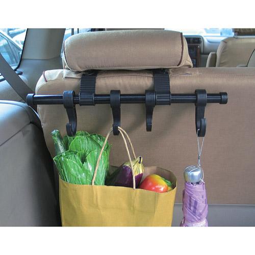 Maxsa Innovations Car Headrest Multi-Hanger, Black