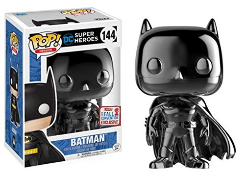 Funko POP! Black Chrome Batman #144 Fall Convention Exclusive by