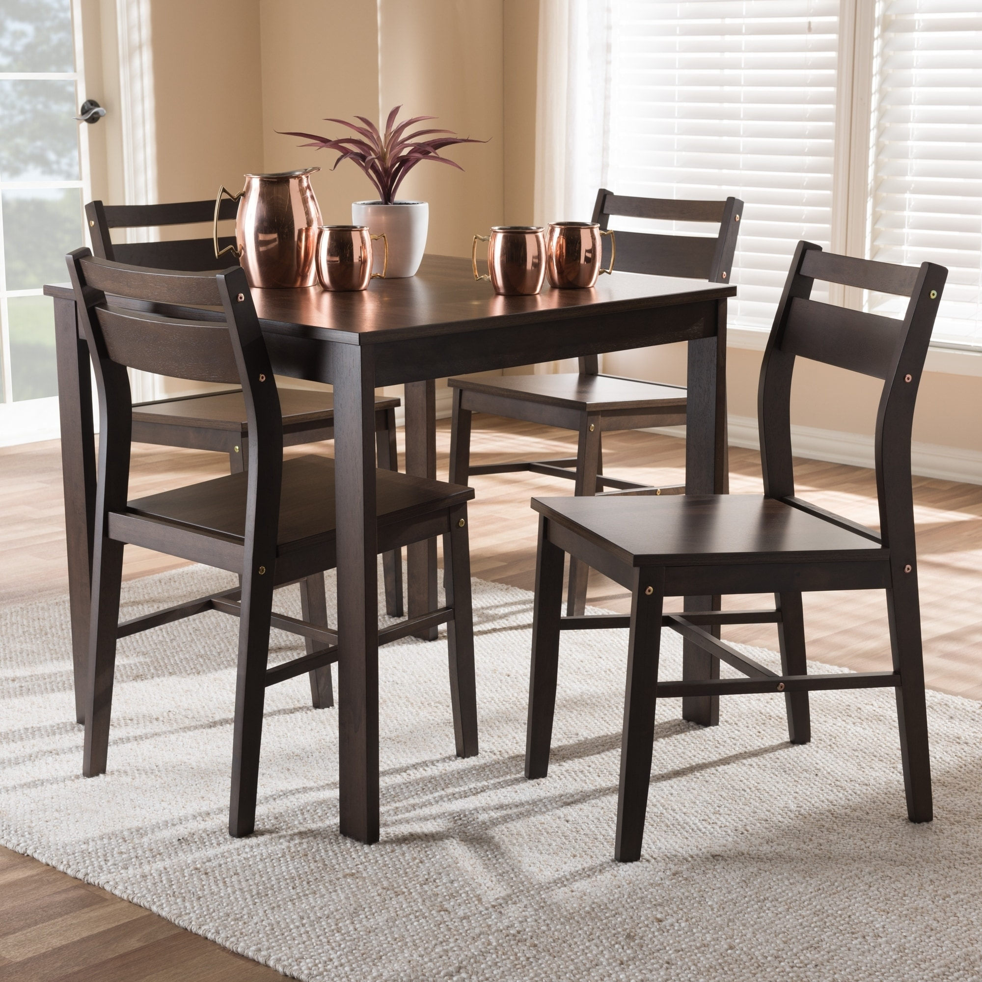 Baxton Studio Contemporary 5-Piece Dining Set by