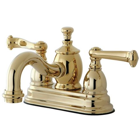 Kingston Brass Royale Centerset Bathroom Faucet with Drain Assembly Brass Bidet Bathroom Faucet