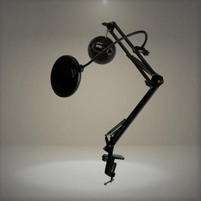 Blue Microphones Snowball iCE Black Microphone with Knox Studio Boom Arm & Pop F