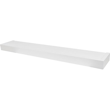 Floating Shelf, Modern Design, White, 36