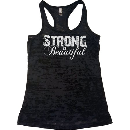 638d61bacb660f Echona Apparel - Echona Apparel Womens Workout Clothes - Strong Is  Beautiful - Crossfit Tank Top - Walmart.com