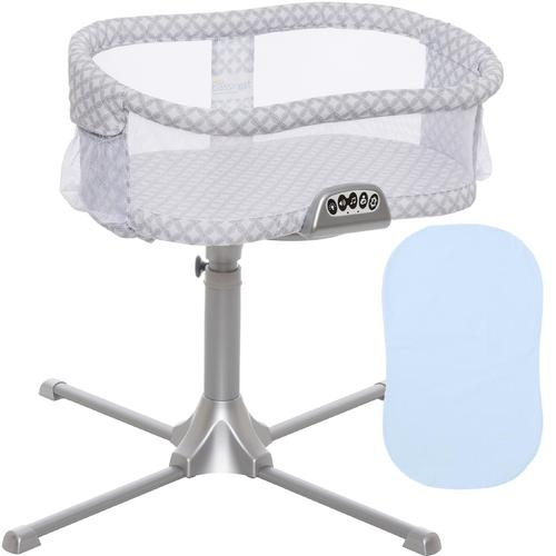 Halo Swivel Sleeper Bassinet Premiere Series Harmony Circles with Blue Fitt by HALO