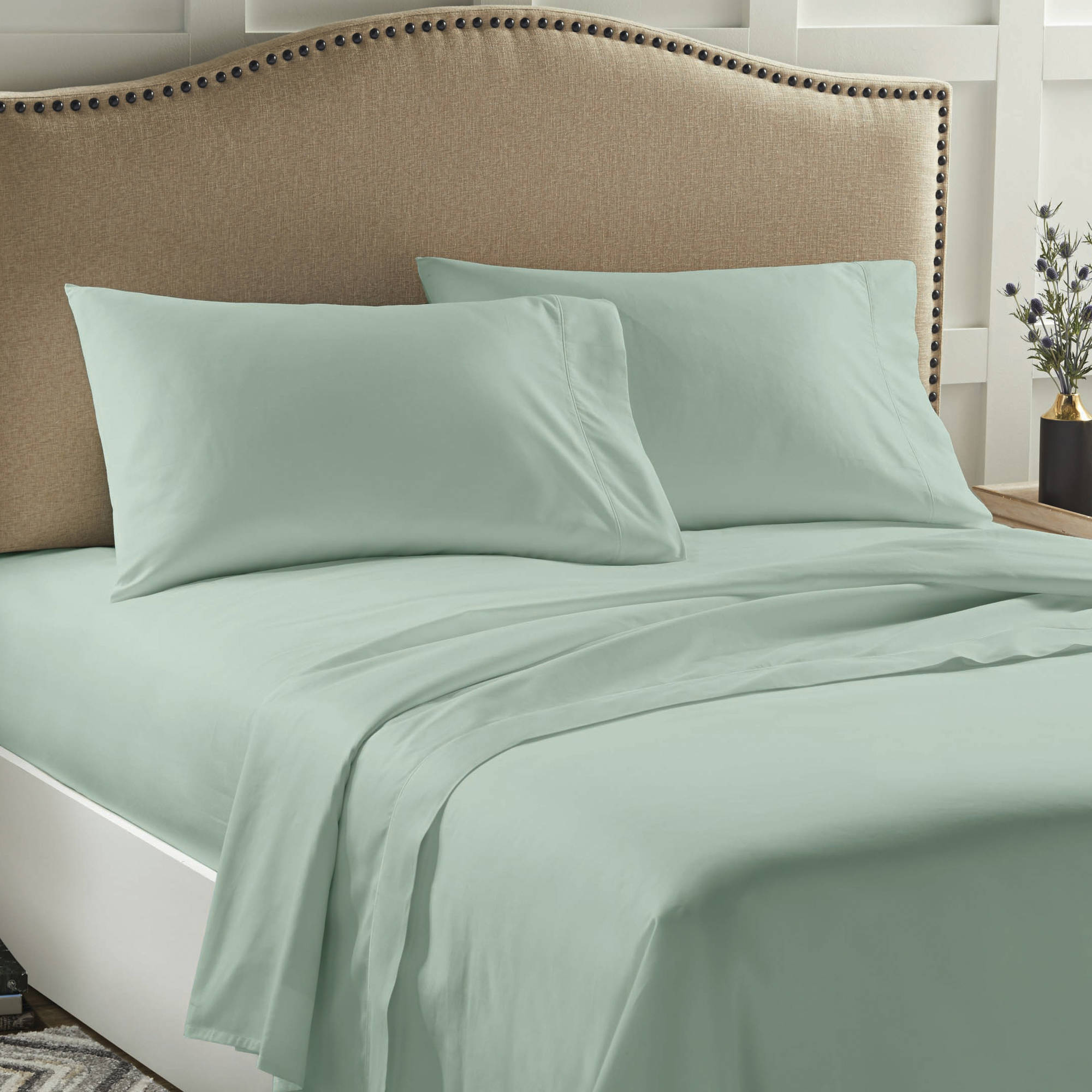 Better Homes & Gardens 400 Thread Count Performance Solid Bed Sheet Set, 1 Each