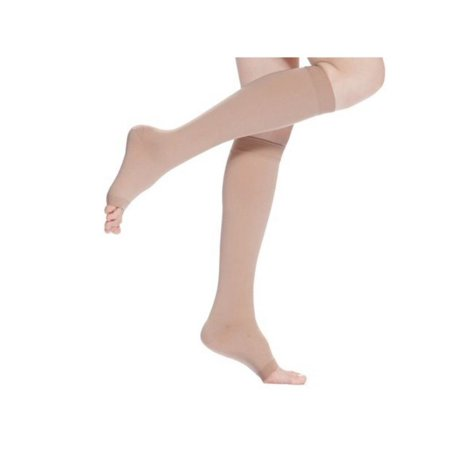18-21mmHg Unisexs Compression Socks Knee High Support Stockings Open Toe