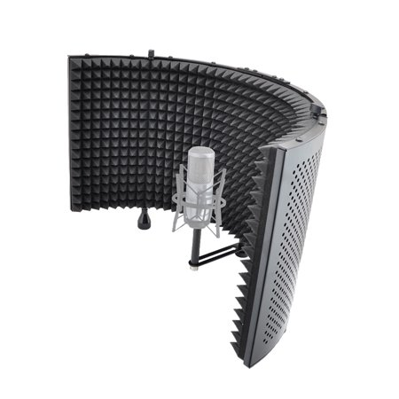 microphone isolation shield with sound dampening foam. Black Bedroom Furniture Sets. Home Design Ideas