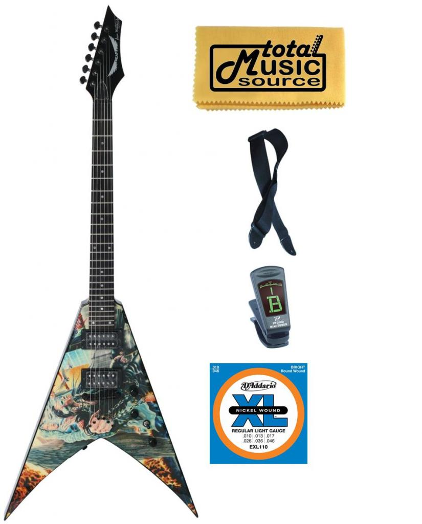 Dean V Dave Mustaine UNITED ABOMINATION Electric Guitar FREE Strings Tuner Strap ,VMNTX UA... by Dean