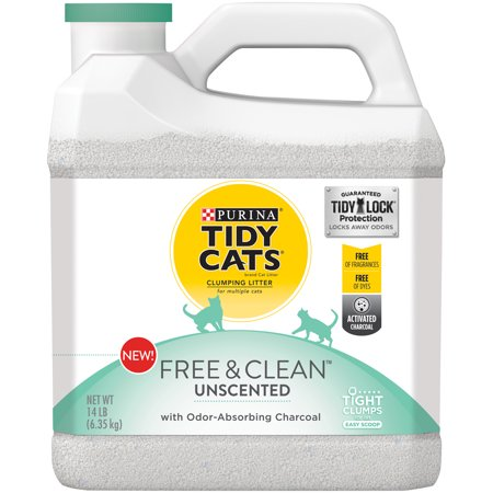 Purina Tidy Cats Free & Clean With Tidylock Protection Clumping Cat Litter - One 14 Lb. Jug