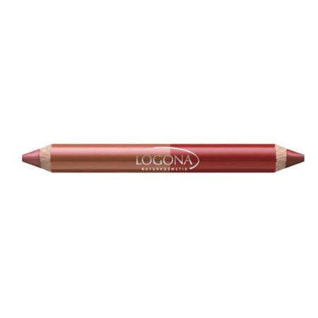 Lip Shaping Gloss Pencil (Logona Naturkosmetik Double Lip Pencil 05 - Ruby Red -- 1 Pencil)