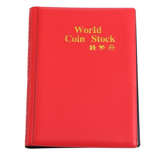Tebru Coin Album, 120 Pockets 10 Pages World Coin Storage