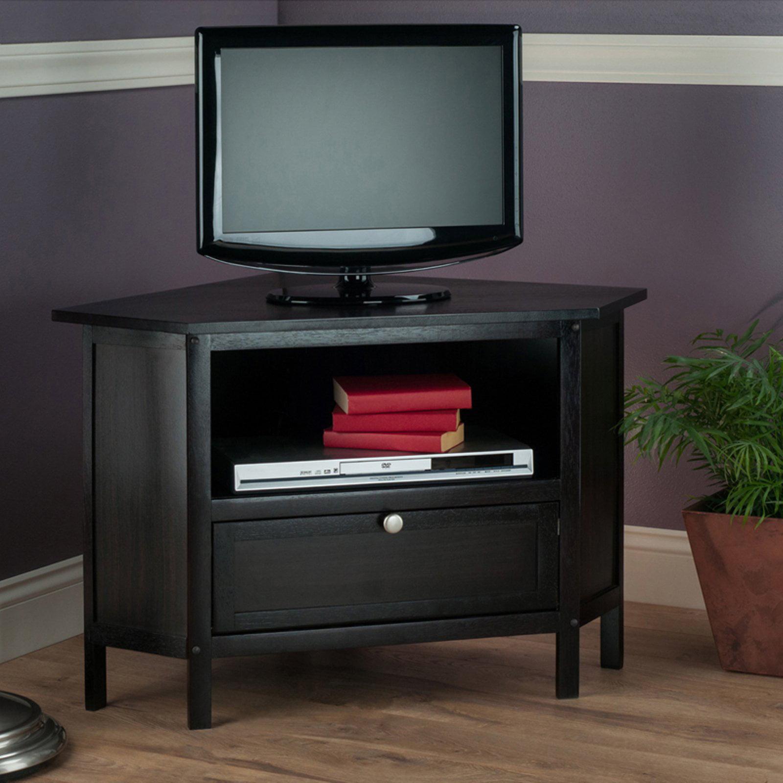 Winsome Wood Zena Corner TV Media Stand, Espresso Finish