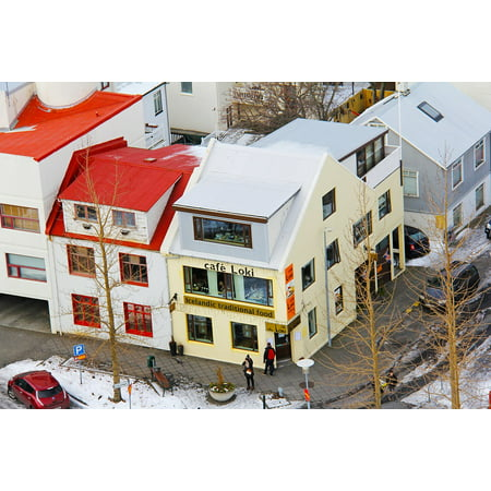 Canvas Print Icelandic Houses Top View Famous From The Top Stretched Canvas  10 x 14