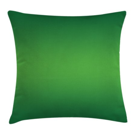 Ombre Throw Pillow Cushion Cover Seaweed And Moss Tropic Nature Inspired For Green Room