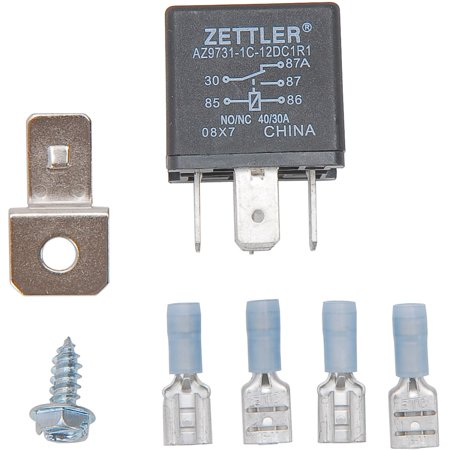 JEGS 10557 30 Amp Relay For Electric Fan or Fuel Pump 30 Amp Relay For Electric Fan or Fuel Pump Universal 30 amp electric fan relay allows you to activate your electric fan when your air conditioning (A/C) is turned on. It can also be used to activate two electric fans with one control unit or an electric fuel pump.