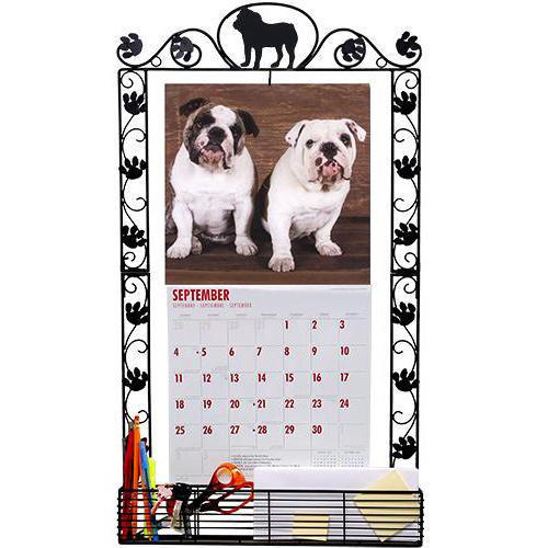 Bulldog Metal Calendar Frame, Bulldog by DogBreedStore.com