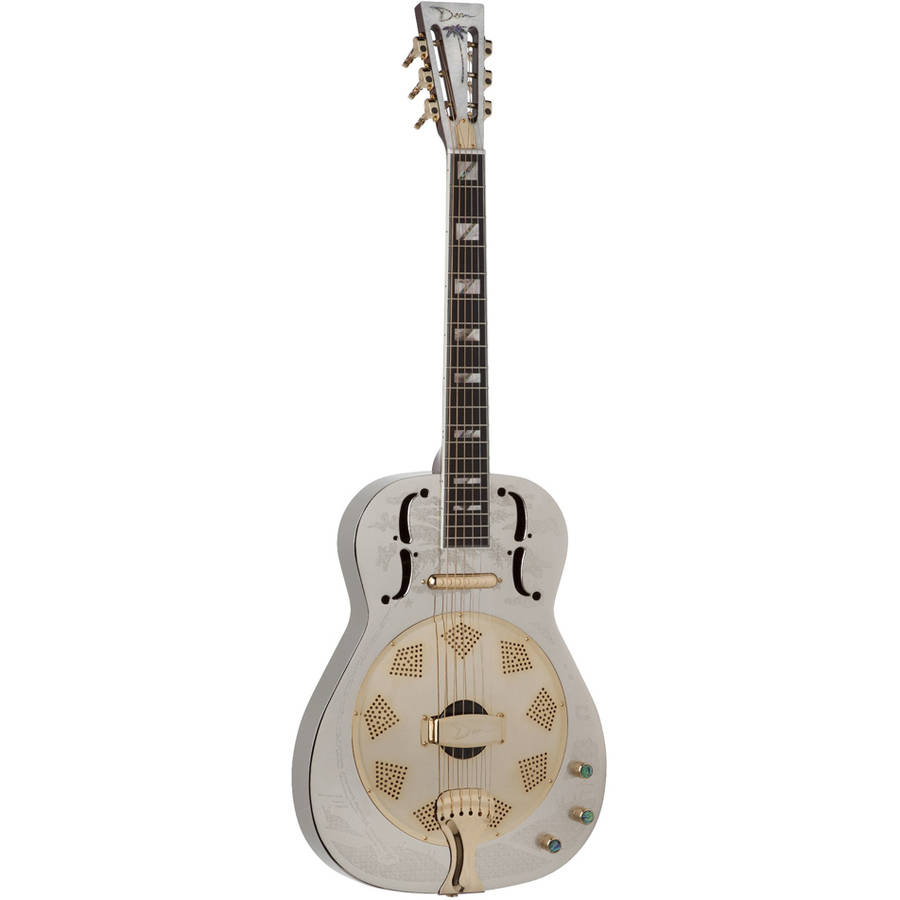 Dean Resonator, Thin Body Electric Chrome/Gold